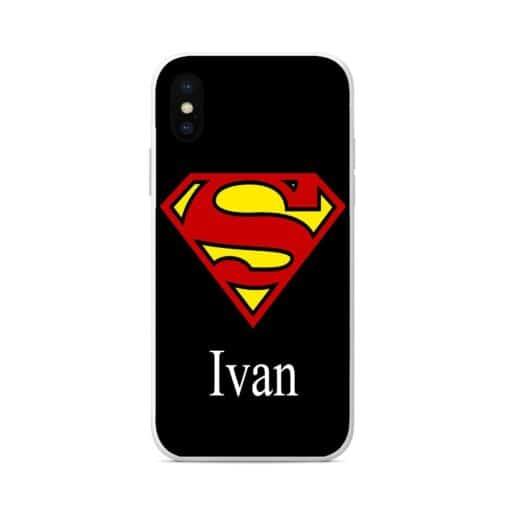 силиконов кейс с име superman