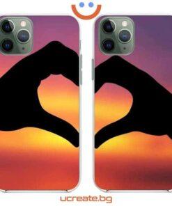 кейс за двойки heart hands
