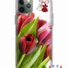 кейс със снимка пролетни лалета