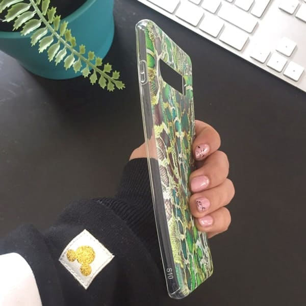Силиконов кейс ANIMAL SKINS зелен питон – имитация на кожа