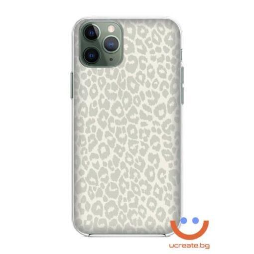 кейс със снимка кожа бял леопард animal skins