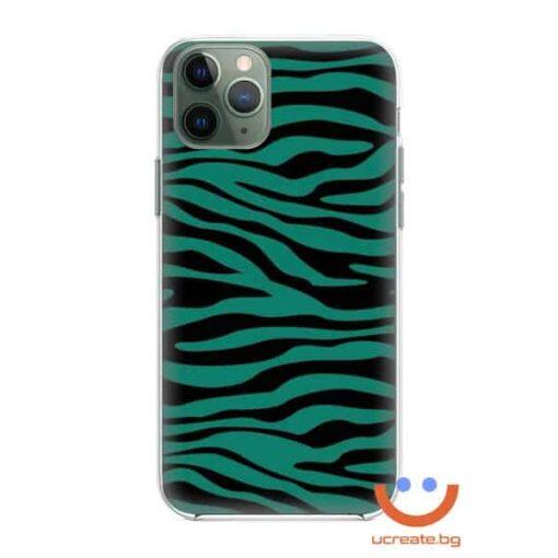 кейс със снимка кожа зелена зебра animal skins
