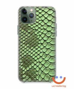 кейс със снимка кожа крокодил зелен