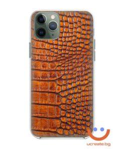 кейс със снимка кожа оранжев крокодил animal skins