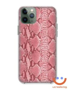 кейс със снимка кожа розов питон animal skins