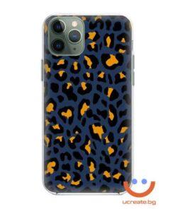 кейс със снимка кожа син леопард animal skins