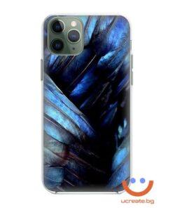 кейс със снимка папагал синьо ара