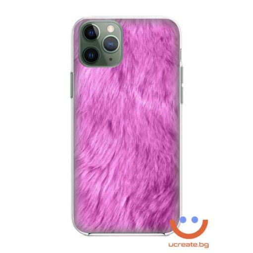 кейс със снимка розова козина