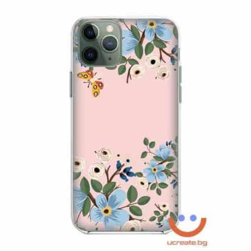 силиконов кейс със снимка Blue Spring Flowers