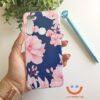 силиконов кейс big pink flowers калъф с цветя ucreate