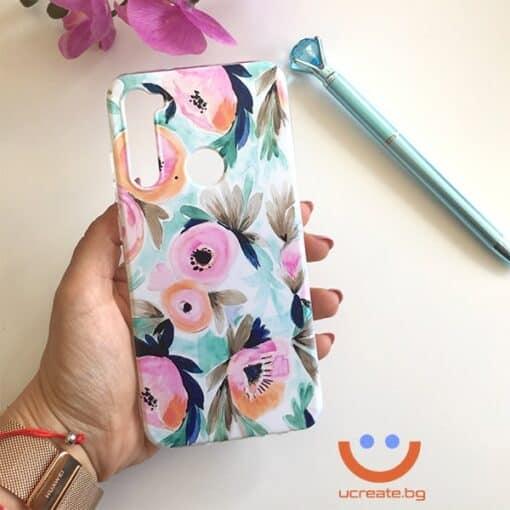 силиконов кейс Magical flowers калъф с цветя ucreate 2