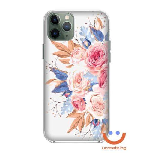силиконов кейс Peony love калъф с цветя