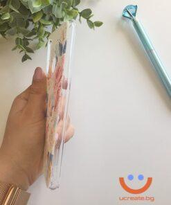 силиконов кейс Peony love калъф с цветя ucreate 2