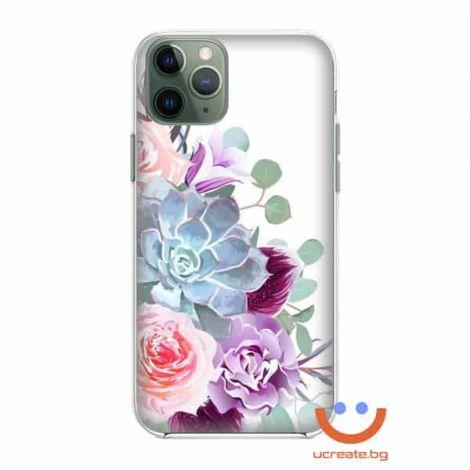 силиконов кейс Simple fancy flowers калъф с цветя
