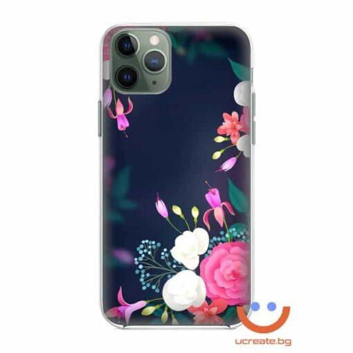 силиконов кейс velvet flowers калъф с цветя