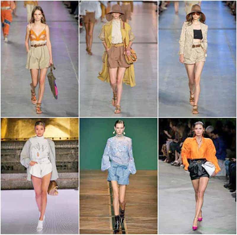 модни тенденции 2020 къси панталонки с висока талия