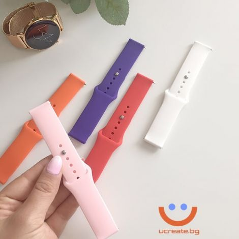 силиконова каишка за дамски смарт часовник huawei gt2 42mm всички цветове