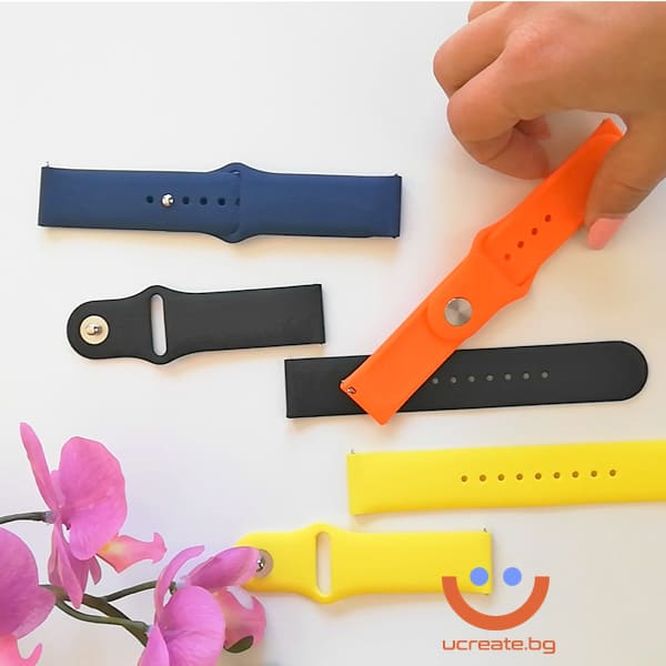 силиконова каишка за мъжки смарт часовник huawei gt2 46mm всички