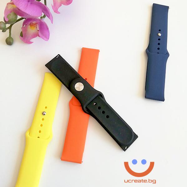 силиконова каишка 22mm за смарт часовник