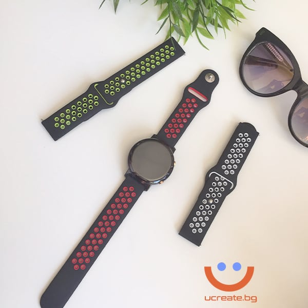 силиконова каишка за дамски смарт часовник huawei gt2 42mm