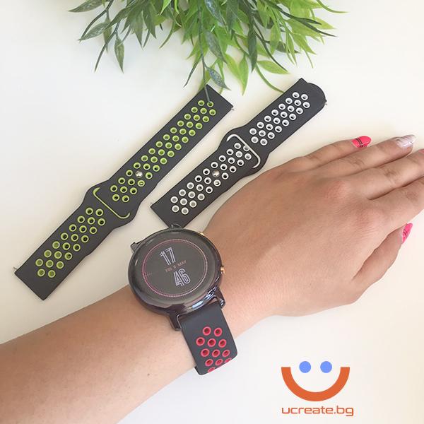 силиконова каишка за дамски смарт часовник huawei gt2