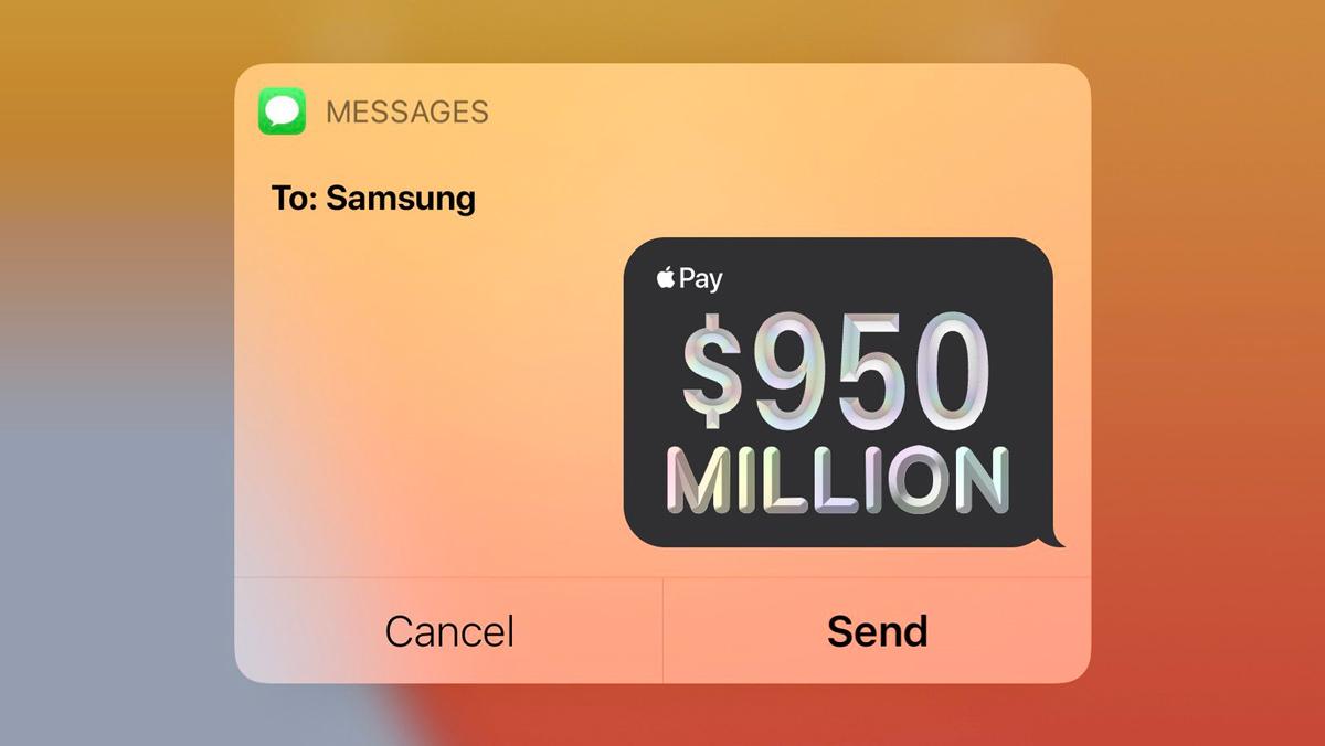 Apple плаща 1 милиард на Samsung ucreate