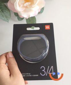оригинална силиконова каишка за смарт гривна Xiaomi Mi Band 4 черна