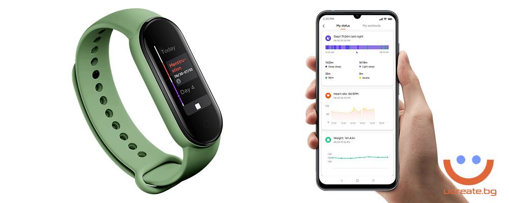фитнес гривна Xiaomi Mi Band 5 овулация и цикъл