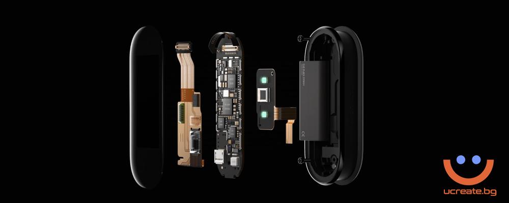 фитнес гривна Xiaomi Mi Band 5 сензори
