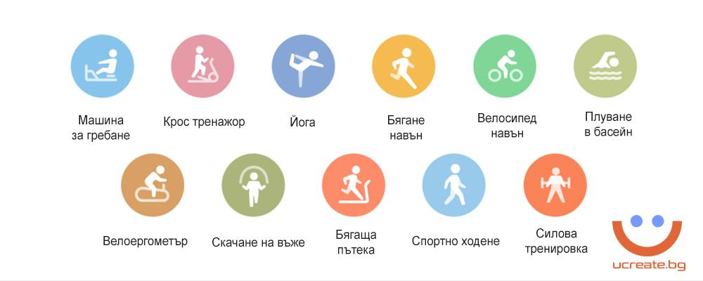 фитнес гривна Xiaomi Mi Band 5 спортни режими