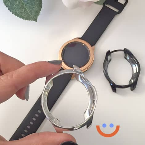 протектор за смарт часовник Samsung Galaxy Watch 3 черен сребрист