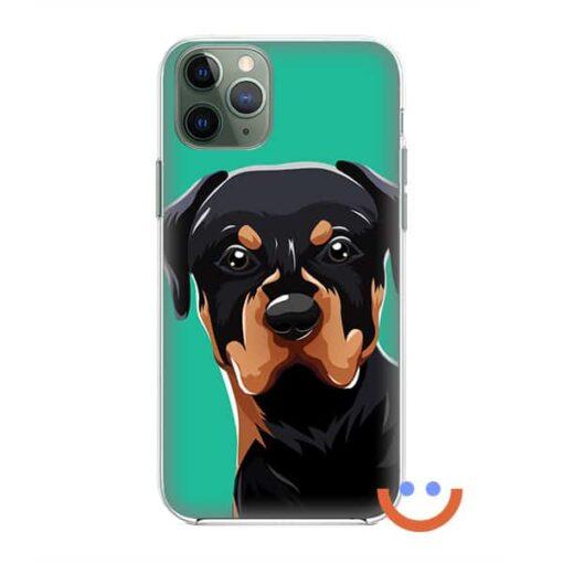 калъф за телефон Cute Rottweiler