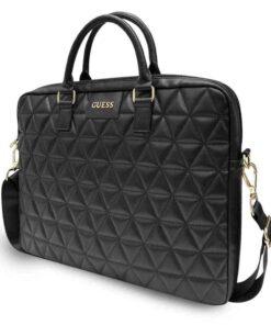 черна чанта за лаптопт с дълга дръжка