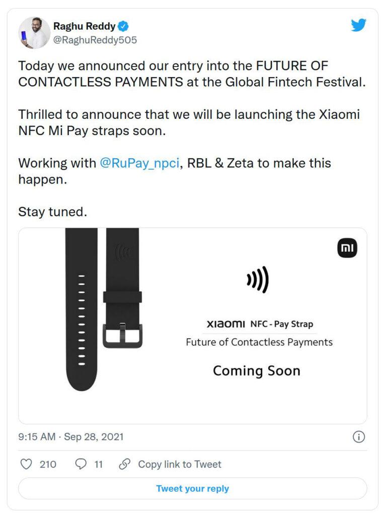 NFC Mi Pay Straps пристига в Индия